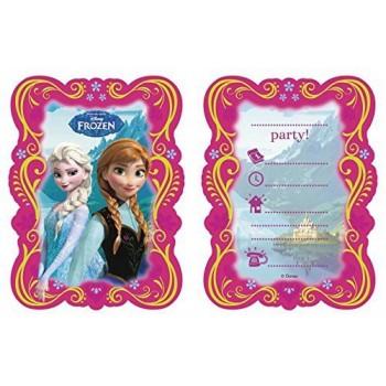 Invitaciones Frozen (6 uds)