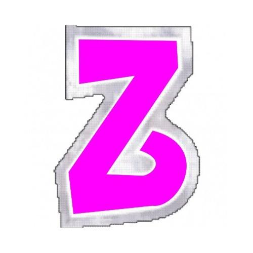 """Pegatina Para Globo Letra """"Z"""" Color ROSA (1 ud)"""