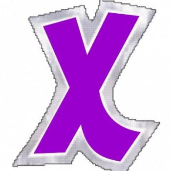 """Pegatina Para Globo Letra """"X"""" Color MORADO (1 ud)"""