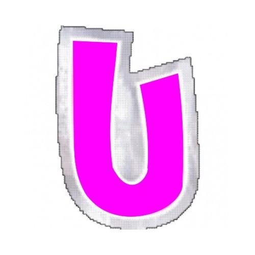 """Pegatina Para Globo Letra """"U"""" Color ROSA (1 ud)"""