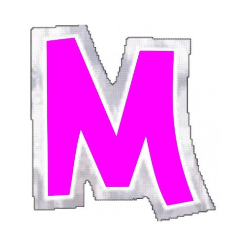 "Pegatina Para Globo Letra ""M"" Color ROSA (1 ud)"