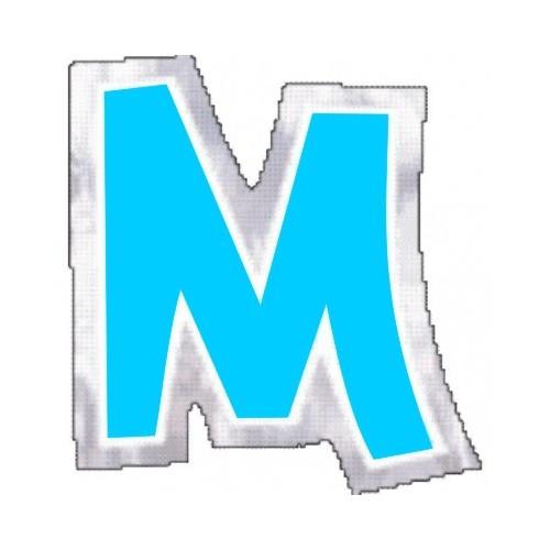 """Pegatina Para Globo Letra """"M"""" Color AZUL (1 ud)"""