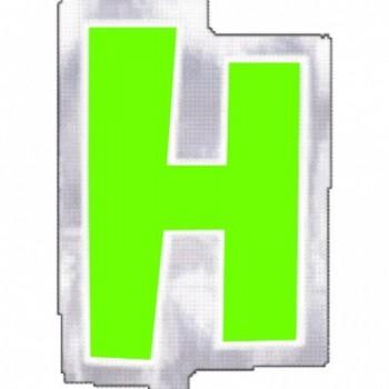 """Pegatina Para Globo Letra """"H"""" Color VERDE (1 ud)"""