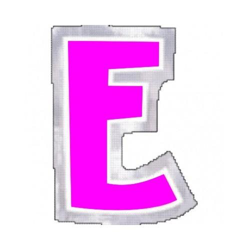 "Pegatina Para Globo Letra ""E"" Color ROSA (1 ud)"