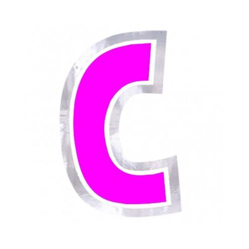 """Pegatina Para Globo Letra """"C"""" Color ROSA (1 ud)"""