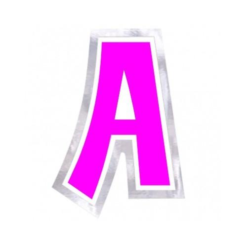"Pegatina Para Globo Letra ""A"" Color ROSA (1 ud)"