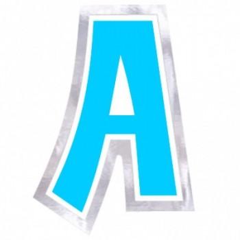 "Pegatina Para Globo Letra ""A"" Color AZUL (1 ud)"
