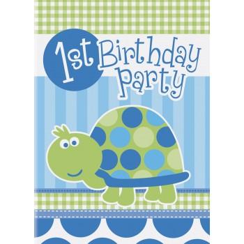 8 Invitaciones Tortuga 1er Año