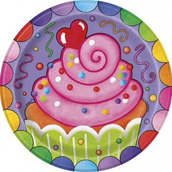 8 Platos 18cm Candy Party
