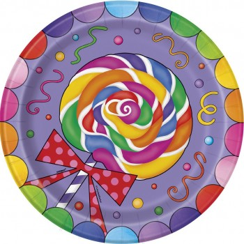 8 Platos 23cm Candy Party