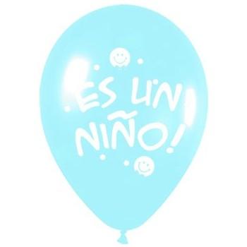 """Globos Azul """"Es Un Niño"""" (10 uds)"""