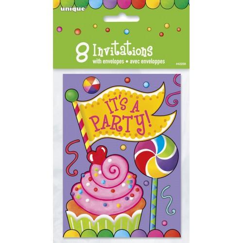 Invitaciones Candy Party