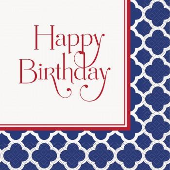 16 Servilletas Happy Birthday