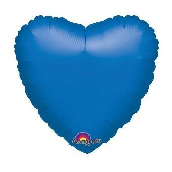 Globo Corazón Azul 45 cm (1 ud)