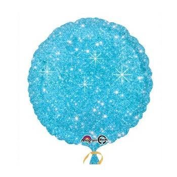 Globo Círculo Azul Con Chispas 45 cm (1 ud)