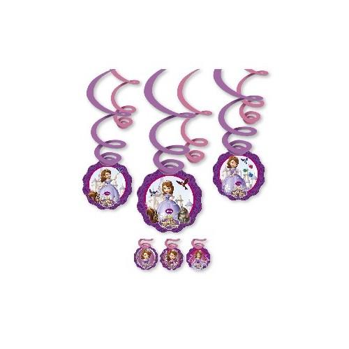Decoración Espiral Princesa Sofia (6 uds)