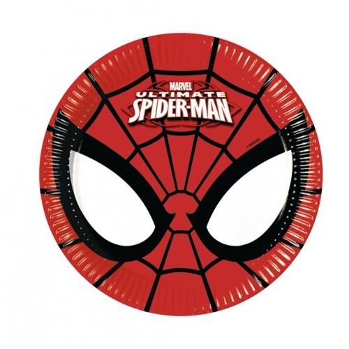 Platos 20 cm Ultimate Spiderman (8 uds)