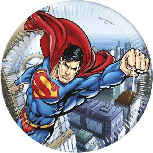 Platos Superman 23 cm (8 uds)