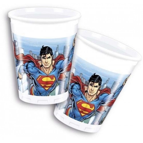 Vasos Superman (8 uds)