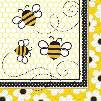 16 Servilletas Busy Bees