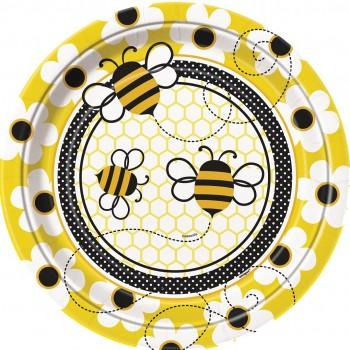 8 Platos 23cm Busy Bees