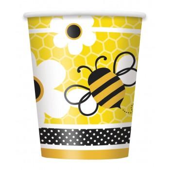 8 Vasos 250 ml Busy Bees