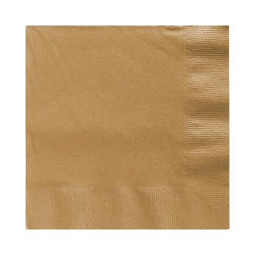 Servilletas Oro Grandes (20 uds)