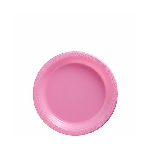 Platos Rosa Plásticos 18 cm (10 uds)