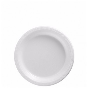Platos Blancos Plásticos 18cm (10 uds)