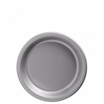 Platos Plata Plásticos 18cm (10 uds)