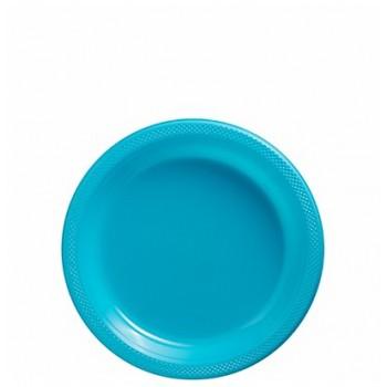 Platos Azul Caribe Plásticos 18cm (10 uds)