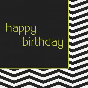 16 Servilletas Designer Birthday