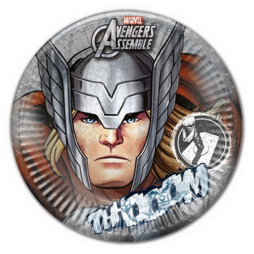 "Platos Thor ""Los Vengadores"" 23 cm (8 uds)"