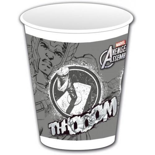 """Vasos plástico Thor """"Los Vengadores"""" 200 ml (8 uds)"""