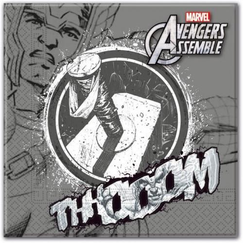 """Servilletas Thor """"Los Vengadores"""" grandes (20 uds)"""