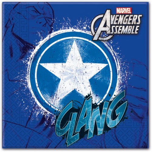 """Servilletas Capitán América """"Los Vengadores"""" grandes (20 uds)"""