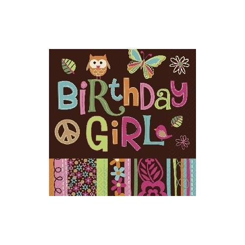 Servilletas Hippie Chick Birthday (16 uds)
