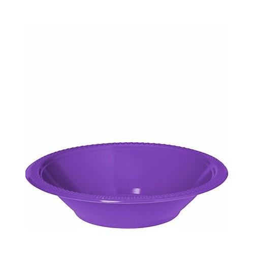 Bol de Plástico Color Morado (10 uds)