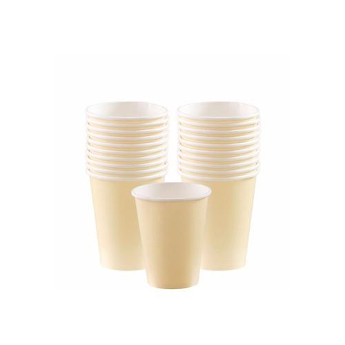 Vasos de Cartón Vainilla 266 ml (8 uds)