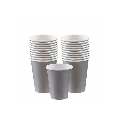 Vasos de Cartón Plata 266 ml (8 uds)