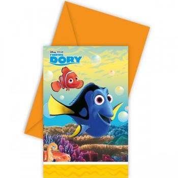 Invitaciones Buscando a Dory (6 uds)