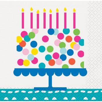Servilletas Confetti Cake (16 uds)