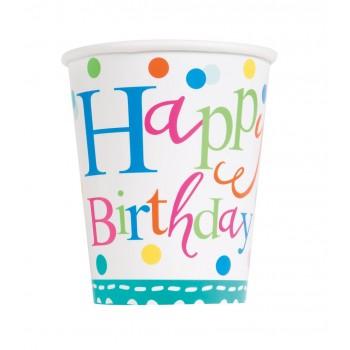 Vasos Confetti Cake 266 ml (8 uds)