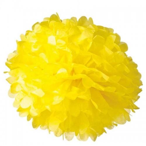 Pompón Amarillo grande (1ud)