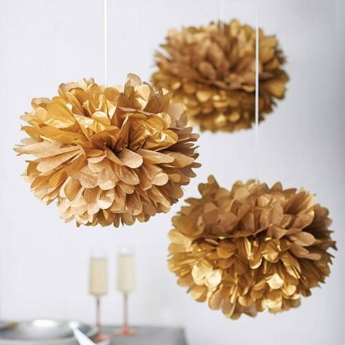 Pompones oro (1ud)
