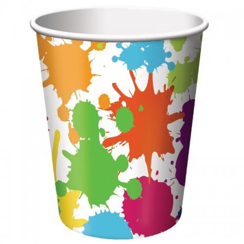 Vasos Art Party 250 ml (8 uds)