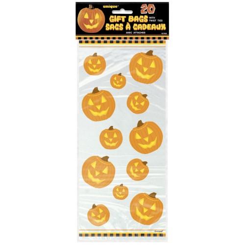 "Bolsas plástico ""Pumpkin Glow"" 12,7x27,9 cm (20 uds)"
