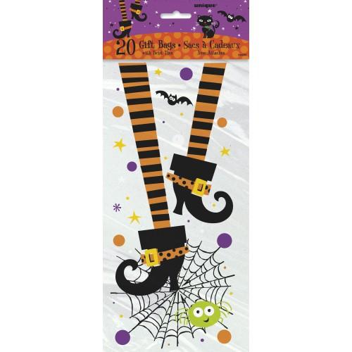 "Bolsas plástico ""Spooky Boots"" 12,7x27,9 cm (20 uds)"