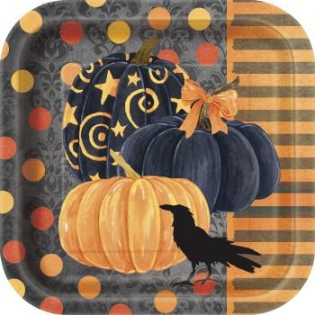 """Platos """"Painted Pumpkin"""" 18x18 cm (10 uds)"""