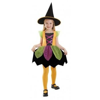 Disfraz Brujita Arcoiris para Niñas (3-5 años)